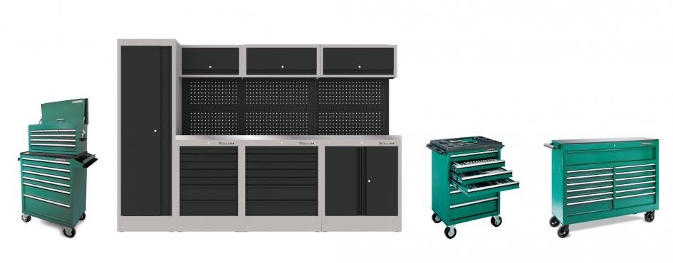 Carrinhos de ferramenta e armários